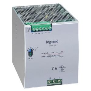 Alimentation stabilisée à découpage mono 960W - entrée 200V~ à 240V~ et sortie 24V LEGRAND