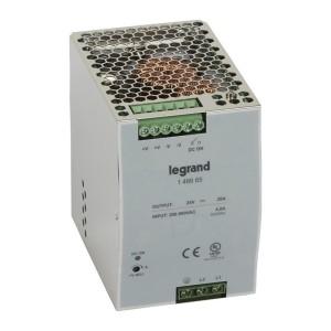 Alimentation stabilisée à découpage mono. et biphasée entrée 200V à 500V et sortie 24V - 480W LEGRAND