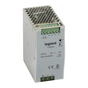Alimentation stabilisée à découpage mono/bi. 240W - entrée 200 à 500V - sortie 48V LEGRAND