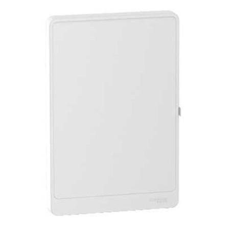 Porte Styl blanche opaque pour coffret Resi9 13 Modules - 2 Rangées SCHNEIDER