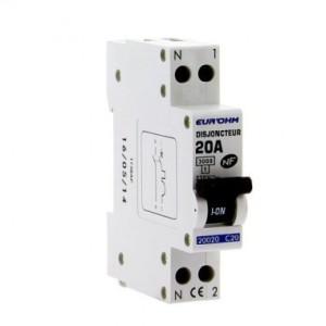 Disjoncteur 1P+N - 20 A - courbe C - Eur'ohm 20020 EUR'OHM