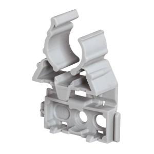 Lyre grise pour tube IRL Ø20mm fixation par cloueur type Pulsa 700E - Emballage 100 - LEGRAND 031371 LEGRAND