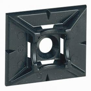 Embase adhésive noire Colring pour colliers larg. 4,6mm max - LEGRAND 032067 LEGRAND