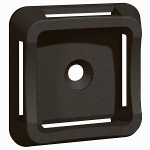 Embase adhésive noire Colring pour colliers larg. 20mm max - LEGRAND 032068 LEGRAND