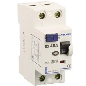 Interrupteur différentiel 40A - 1P+N - 30mA - type AC - Eur'ohm 23040 EUR'OHM