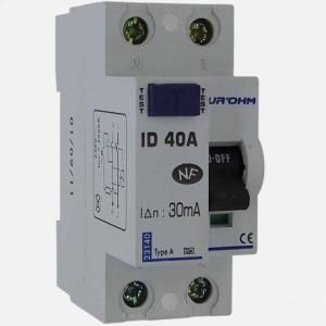 Interrupteur différentiel 40A - 1P+N - 30mA - type A - Eur'ohm 23140 EUR'OHM