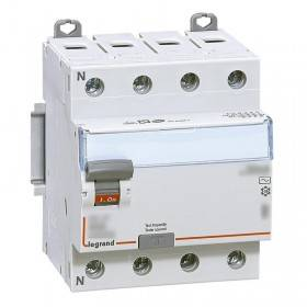 Interrupteur différentiel DX³-ID vis/vis - 4P 400V~ 25A type F 30mA - 4 modules LEGRAND