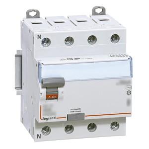Interrupteur différentiel DX³-ID vis/vis - 4P 400V~ 63A typeF 30mA - 4 modules LEGRAND
