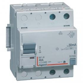 Interrupteur différentiel DX³-ID vis/vis - 2P 230V~ 40A type B 30mA - 4 modules LEGRAND