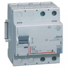 Interrupteur différentiel DX³-ID vis/vis - 2P 230V~ 63A type B 30mA - 4 modules LEGRAND