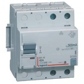Interrupteur différentiel DX³-ID vis/vis - 2P 230V~ 40A type B 300mA - 4 modules LEGRAND