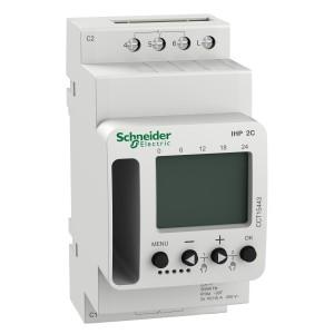 Interrupteur horaire programmable 7 jours - 2 canaux - Acti9 IHP SCHNEIDER
