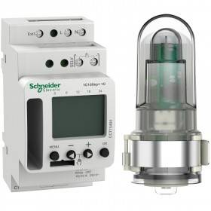 Interrupteur crépusculaire programmable - 1 canal - smart - Acti9 IC100kp+ SCHNEIDER