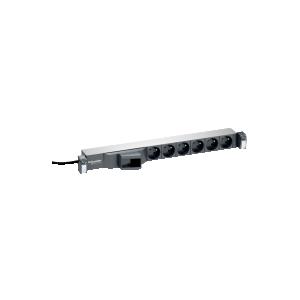 "Actassi - Panneau 19\\"" alimentation 230V - 6 prises courant std Fr - disj. Diff. SCHNEIDER"