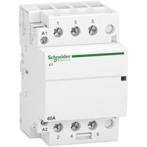 Contacteur 40A 3NO 230...240VCA 50Hz - Acti9, iCT SCHNEIDER