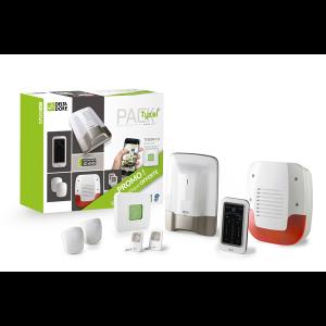 Pack alarme - 8 zones - sans fil - pré-configuré avec box domotique TYXAL+ DELTADORE
