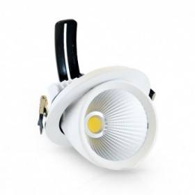 Spot LED escargot inclinable et orientable 30W 3000°K + alim. électronique VISION EL