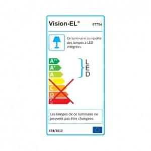 Potelet rectangulaire LED 6W 3000°K diffuseur curviligne VISION EL