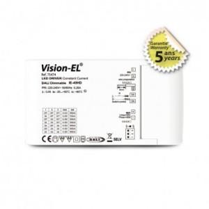 Alimentation pour LED 14-43VDC Dali push 45W 1050-1600MA VISION EL
