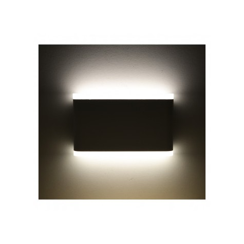 Applique murale LED 10W 4000°K rectangulaire - Gris anthracite VISION EL