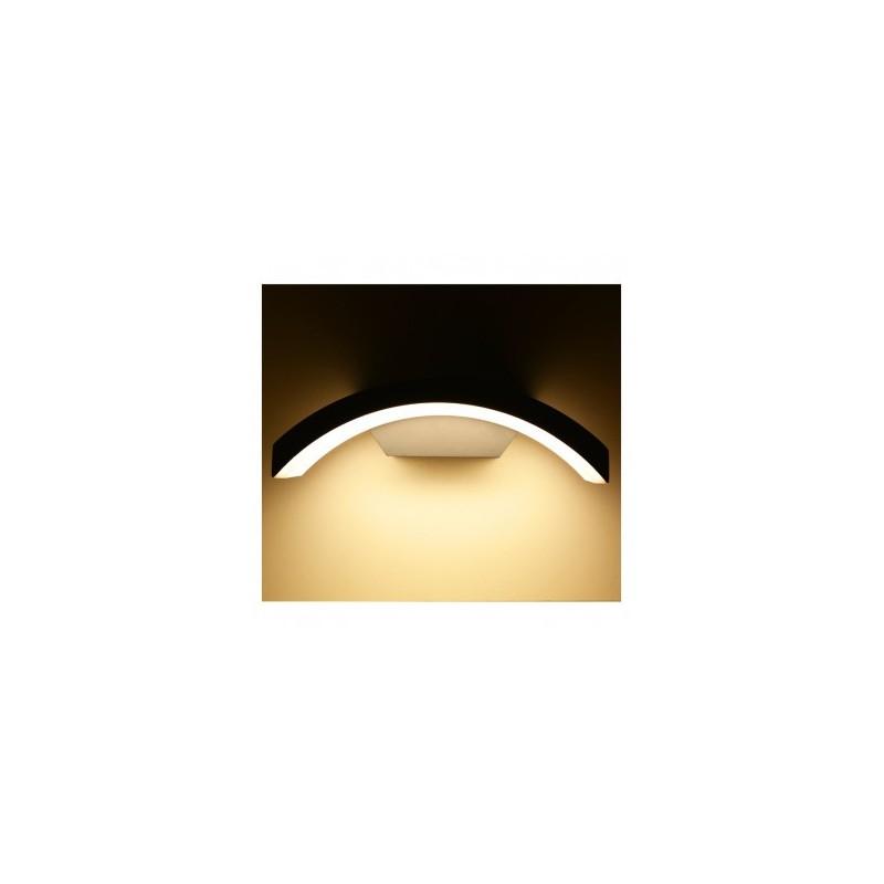 Applique murale LED 6W 3000°K curviligne - Gris anthracite VISION EL