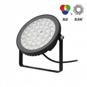 Projecteur extérieur LED 15W RGB+Blanc - Noir VISION EL