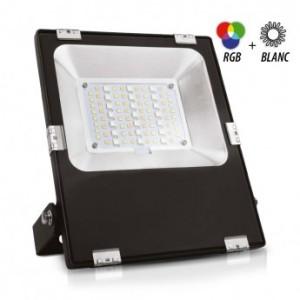Projecteur exterieur LED 20W RGB+blanc - Noir VISION EL