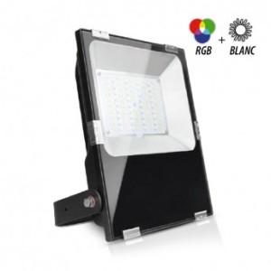 Projecteur extérieur LED 50W RGB+blanc - Noir VISION EL