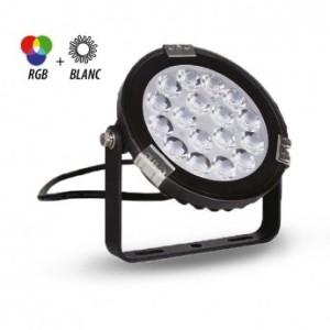 Projecteur extérieur LED 9W RGB+blanc - Noir VISION EL