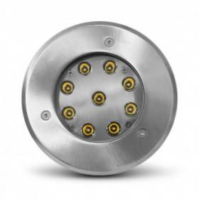Spot LED encastrable sol Ø165mm 9W 4000°K - inox 316L VISION EL