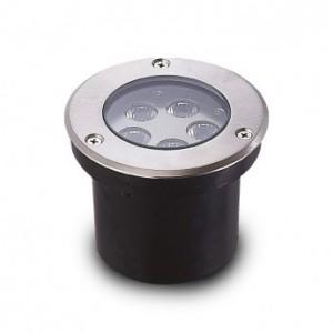Spot LED encastrable sol Ø108mm 5W 4000°K - inox 316L VISION EL