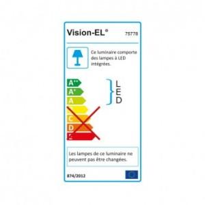 Tubulaire LED intégrées opale 60W 4000°K 7700 LM - 1510xØ80mm VISION EL