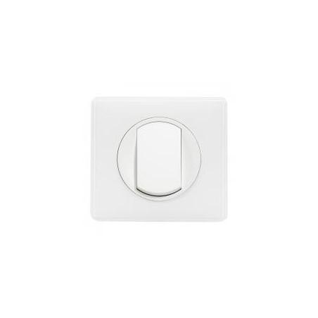 Interrupteur ou va-et-vient avec plaque - 10 A - Céliane Soft blanc LEGRAND