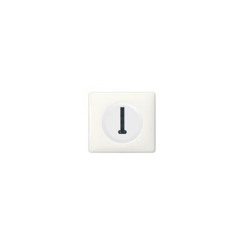 Prise téléphone 8 contacts en T avec plaque Céliane - Blanc LEGRAND