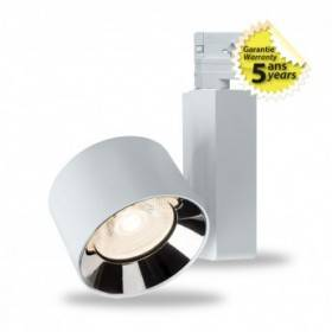 Spot LED sur rail avec adaptateur 3 allumages 20W 4000°K - Blanc VISION EL