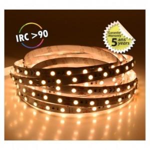 Bandeau LED 3000°K 5m 60 LED/m 52,5W IP20 - 12V - Garantie 5 ans VISION EL