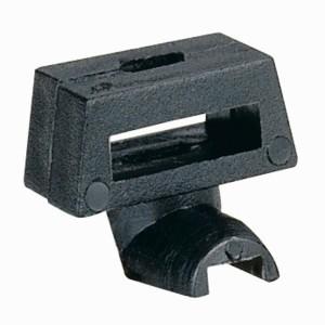 Verrou type tôle pour fixation colliers avec perçage Ø7mm sur plaque pleine ou plaque perforée Lina25 pour coffret LEGRAND