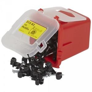 Attache Multifix noire protégé U.V. pour câbles Ø5mm à Ø7mm - LEGRAND 031583 LEGRAND
