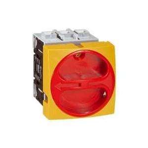 Interrupteur-sectionneur rotatif complet encastré cadenassable - tripolaire - 25A LEGRAND
