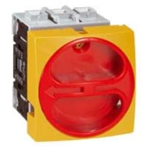 Interrupteur-sectionneur rotatif complet encastré cadenassable - tripolaire - 32A LEGRAND