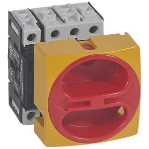 Interrupteur-sectionneur rotatif complet encastré cadenassable - tétrapolaire neutre à gauche - 25A LEGRAND