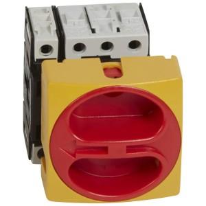 Interrupteur-sectionneur rotatif complet encastré cadenassable - tétrapolaire neutre à gauche - 63A LEGRAND
