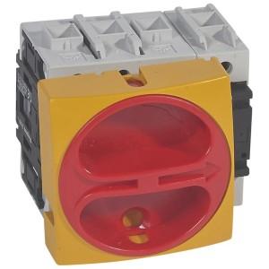Interrupteur-sectionneur rotatif complet encastré cadenassable - tétrapolaire neutre à gauche - 100A LEGRAND