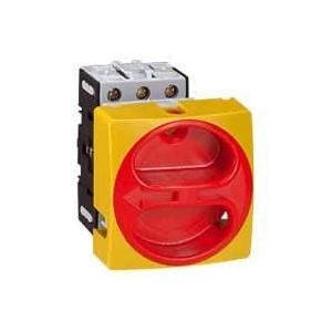 Interrupteur-sectionneur rotatif complet encastré Ø22 cadenassable - tripolaire - 25A LEGRAND