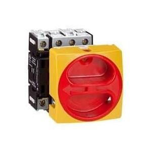 Interrupteur-sectionneur rotatif complet encastré Ø22 cadenassable - tétrapolaire neutre à gauche - 20A LEGRAND