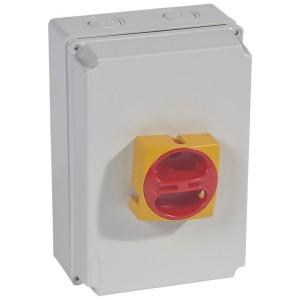 Interrupteur-sectionneur rotatif complet de proximité - tripolaire - 40A LEGRAND