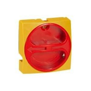 Manette cadenassable IP40 pour interrupteur-sectionneur rotatif composable - 80A et 100A - jaune et rouge LEGRAND