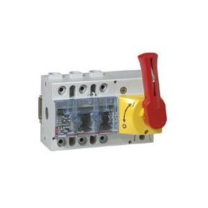 Interrupteur-sectionneur Vistop 125A - 3P avec commande frontale et poignée rouge LEGRAND