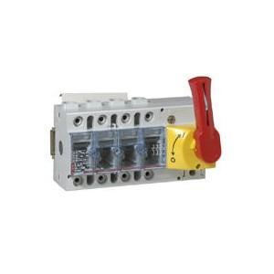 Interrupteur-sectionneur Vistop 125A - 4P avec commande frontale et poignée rouge LEGRAND
