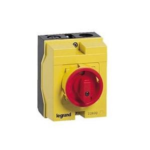 Coffret de proximité 25A IK07 3P avec contact à fermeture pour coupure ou sectionnement d'un moteur 1 vitesse LEGRAND